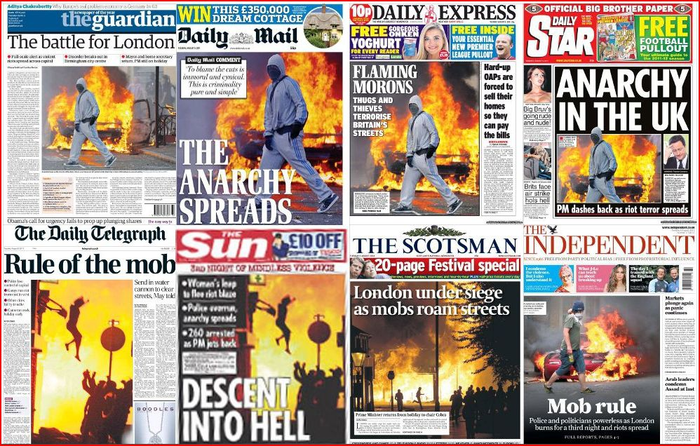 Newspaper coverage of 2011 riots