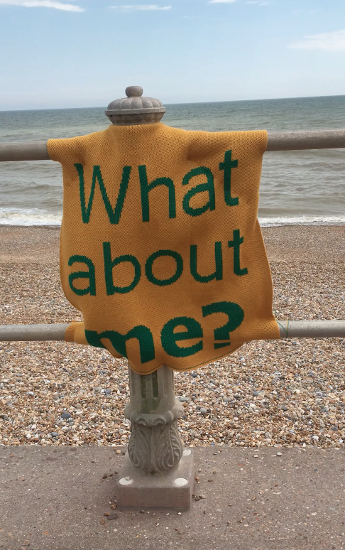 What about me? Artwork located on St Leonards sea front.