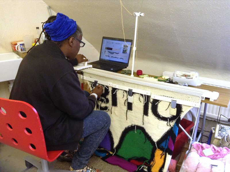 Lorna Hamilton-Brown working on OMG