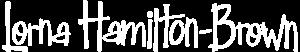 Lorna Hamilton-Brown logo in white text