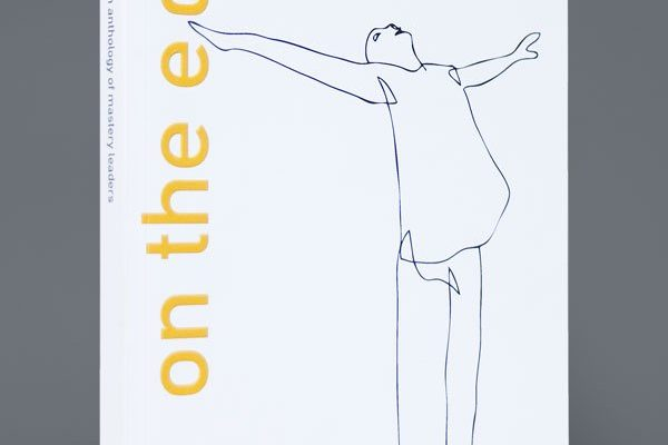 'on the edge' book front cover illustration